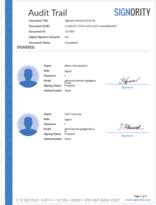 eSignature-audit-trail-signer-list