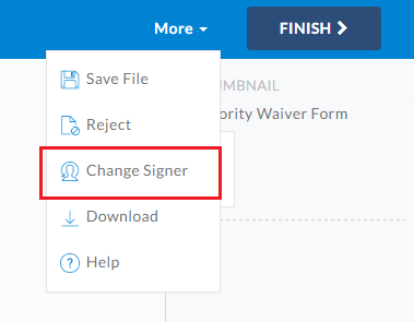 Switch Signer Responsibility from Signing Page