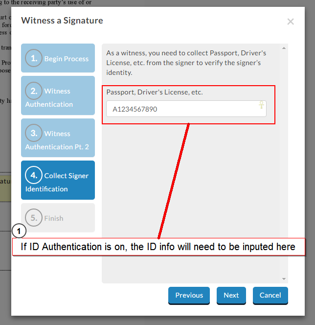 witness signing identification authentication