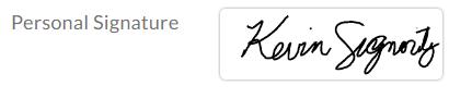 default signature design applied