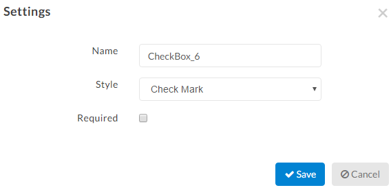 checkmark tags options
