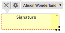 drag and drop signature tags to add them to the document
