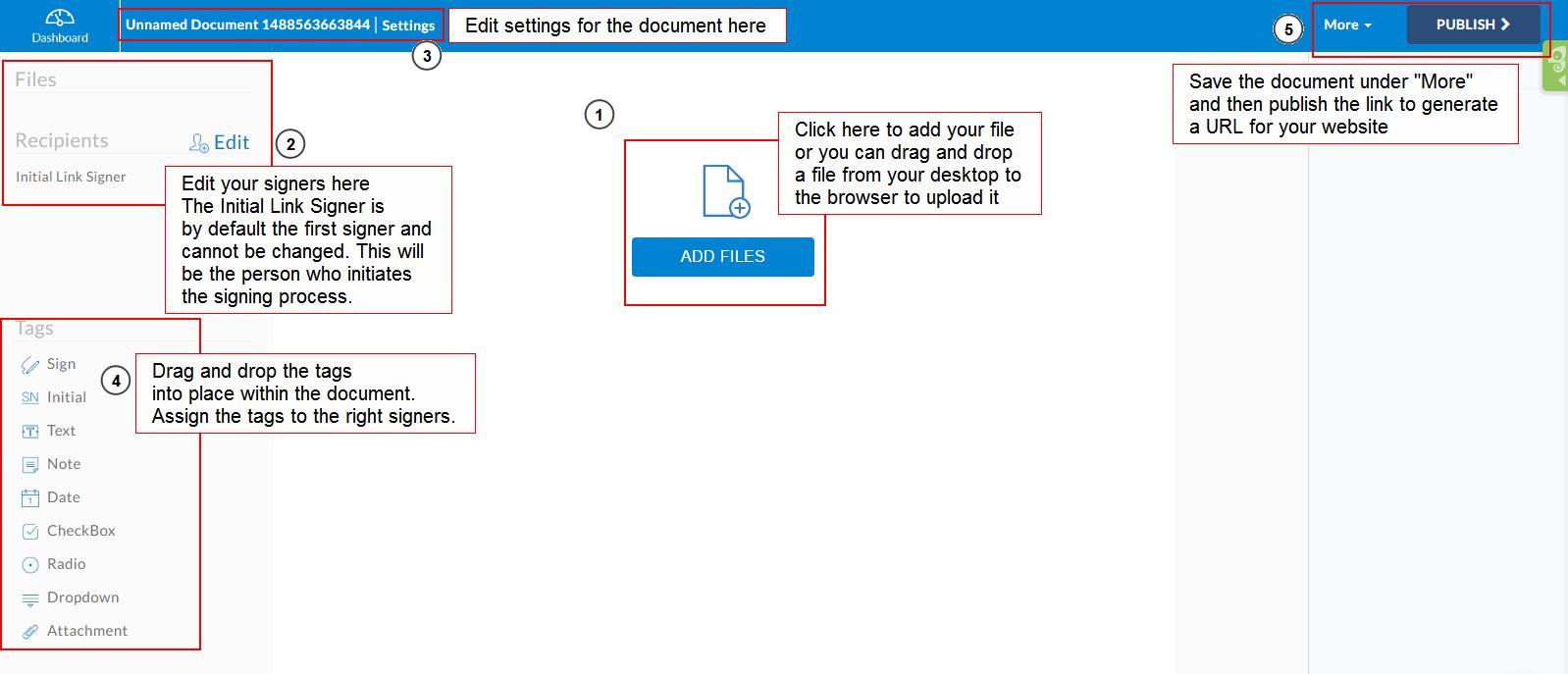 Publishing Template Links for Online Signing | Signority eSignature ...