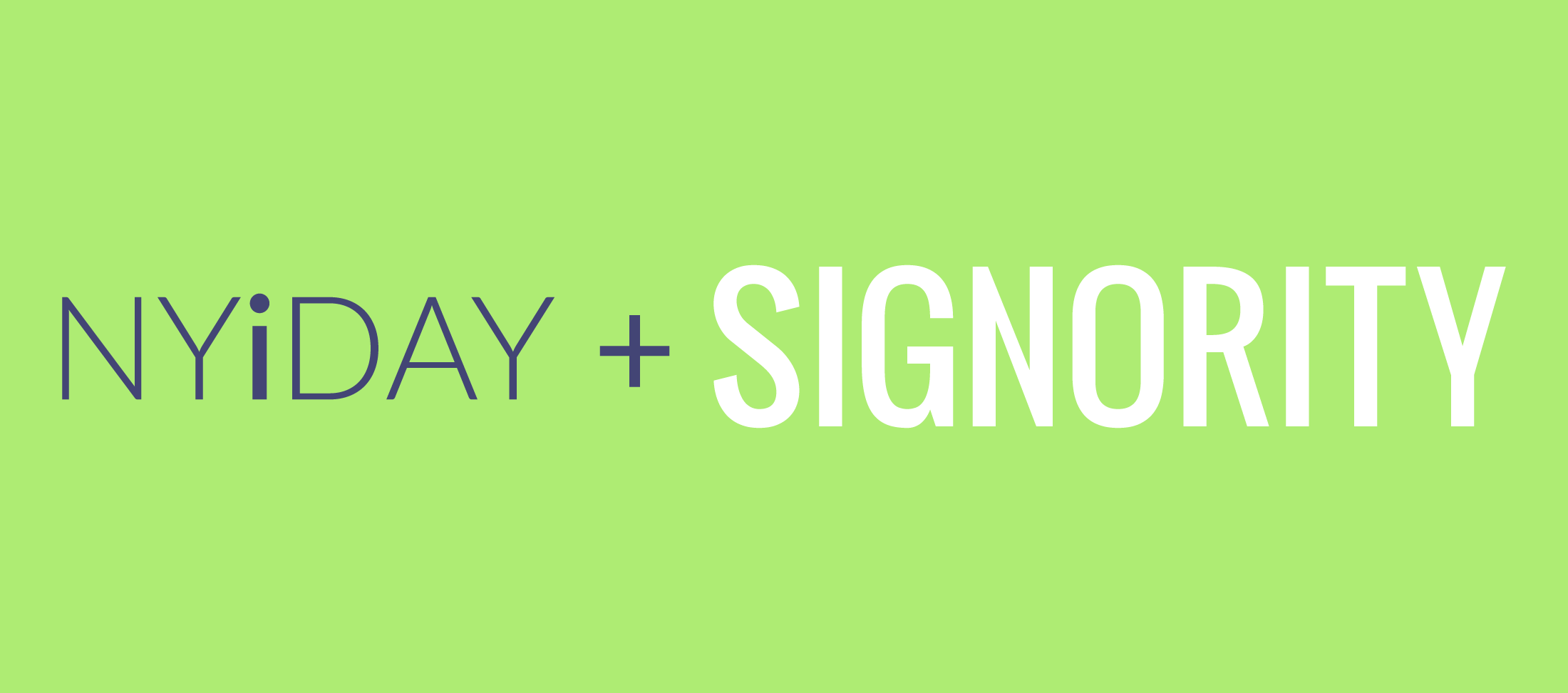Signority Sponsors NYIDAY