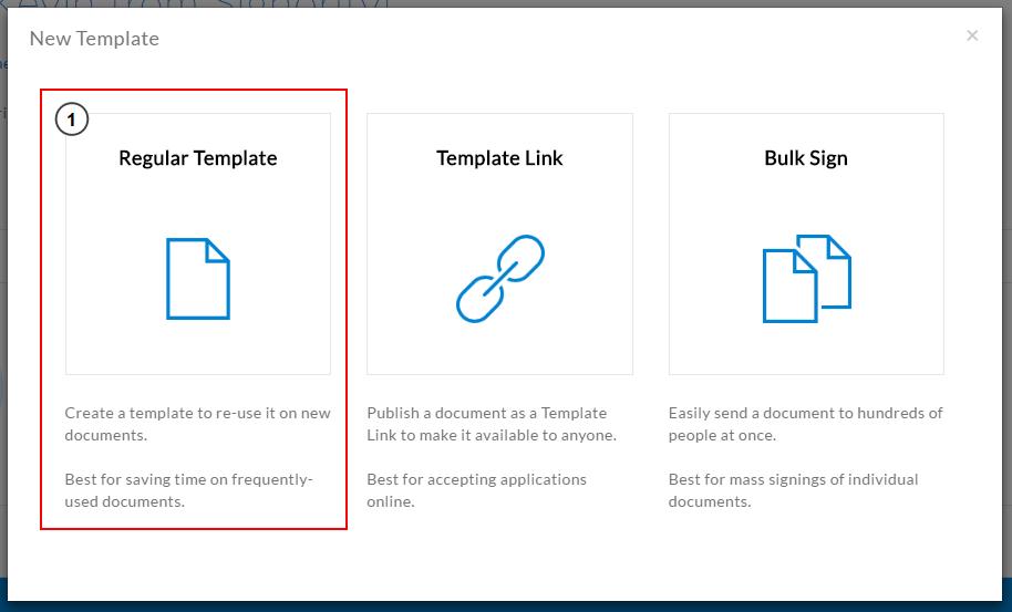 Create new electronic signature templates