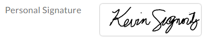 default signature design applied