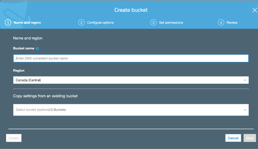 AWS S3 bucket naming.