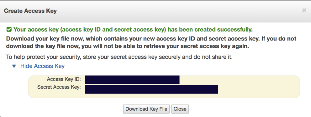 AWS Create new access key