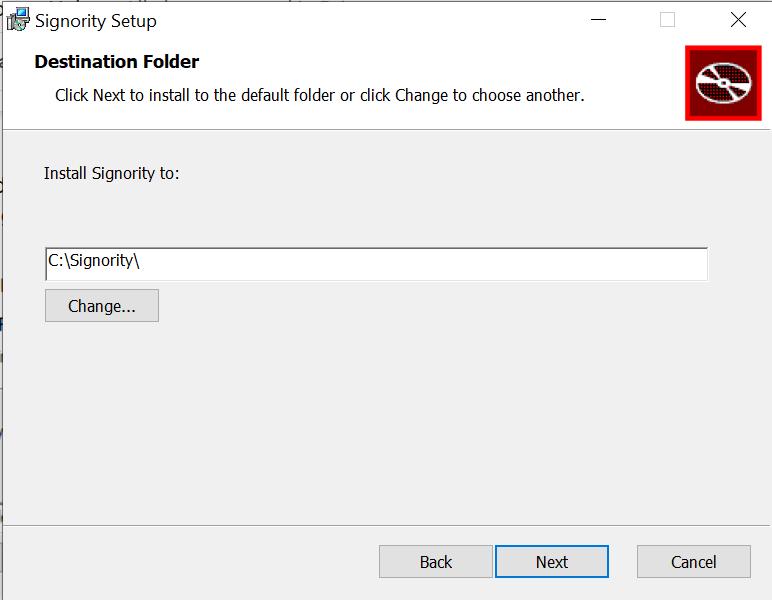Set Destination Folder